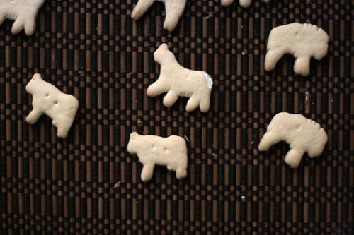 Not sure why the buffalo crackers are facing the opposite direction from the other animal crackers.