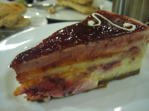 Raspberry Mango Cheesecake