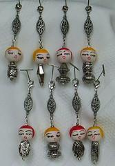 Doll Charms/Pulls (perpetualplum) Tags: japan vintage pull beads doll head handmade charm dollheads charms filigree zipperpull cellphonecharms lobsterclasp spuncotton zipperpulls metalfinding