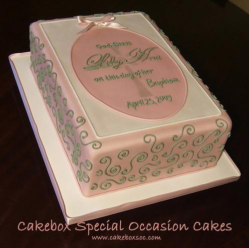 baptism cakes wording