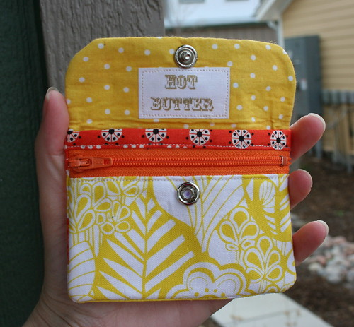 Yellow Patchwork Zippy Card Wallet