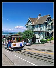 Hyde Street - San Francisco (sjb4photos) Tags: sanfrancisco california cablecar russianhill hydestreet tudorhouse alltypesoftransport