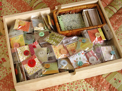my THANK YOU drawer (PatchworkPottery) Tags: studio sewing room craft magnets button ribbon supplies
