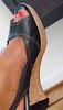 144/365 I Do Love This Shoe (Pottery Barn Part Deux (Terri)) Tags: foot shoe cork platform slingback redtoenails project365 futab feetuptakeabreak homechillin
