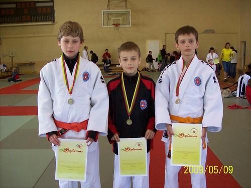 Iš kairės Lukas čŒiuželis, Lukas Lingys ir Gintas Žebrauskas