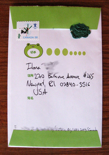 Frog envelope with green wax seal