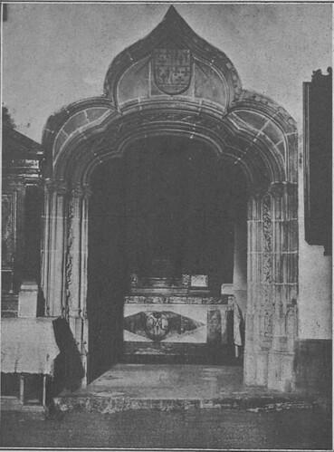 Portada de la Capilla del Cristo de la columna, principios del siglo XX