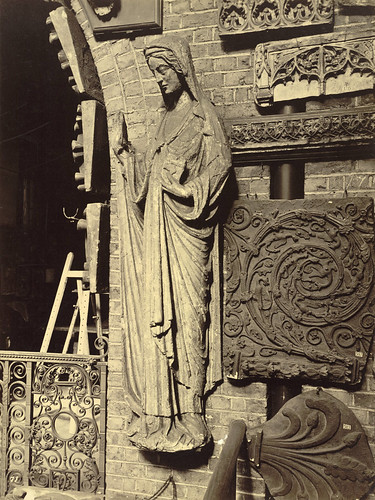 Royal Architectural Museum. Plaster Casts of Westminster Abbey Chapter House Virgin Mary Statue by Cornell University Library