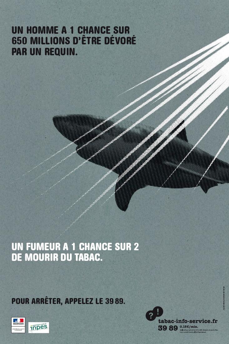Affiche INPES Requin tabagisme
