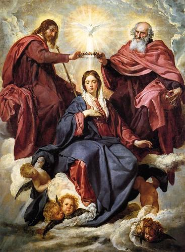 D. Velázquez. La coronación de la Virgen. Museo del Prado, Madrid.