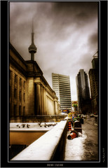 Union Station (The Oracle) Tags: city winter toronto photoshop dark downtown unique render fineart gothic digitalart surreal fantasy unionstation hdr darkphotography digitalphotography fineartphotography fantasyart torontowinter 3dphotography digitalphotographer surrealphotography fantasyimages torontophotographer hdrphotography proccessing fineartphotos uniquestyle darkphotos gothicphotography digitalartist darkstyle citybuild fantasyhdr fantasyphotography surrealhdr uniquephotography wintertoronto surrealimages surrealphotos gothicphotos winterunionstation tanquilphotography gothichdr