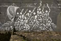 radeau de la méduse (ixos) Tags: friends streetart paris france art nikon urbanart creation détail arturbain peinturemurale radeau d80 ixos jérômemesnager unlimitedphotos