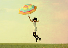 it's summertime (sweetkendi) Tags: summer me umbrella fun jump textured
