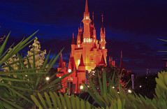 Magic Kingdom - Through the trees to the Magic(Explored) (Cory Disbrow) Tags: travel vacation hub photoshop canon orlando lab florida disney nighttime fl wdw waltdisneyworld tomorrowland 2008 magickingdom waltdisney mainstreetusa cs4 lakebuenavista cinderellacastle baylake reedycreek waltdisneyworldresort sevenseaslagoon tabletoptripod canonrebelxti tomorrowlandterrace disneyafterdark 5stardisneyaward corydisbrow