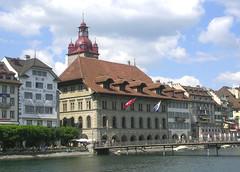 Lucerne - Rathaus (roger4336) Tags: 2005 river schweiz switzerland cityhall luzern rathaus lucerne reuss