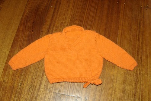 Orange Pear Tree cardigan