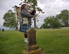 Morning Music (Wandering 101) Tags: music history rebel war gun military union confederate civilwar cannon soldiers fighting yankee reenactment bagpipe 1860 wandering101photography