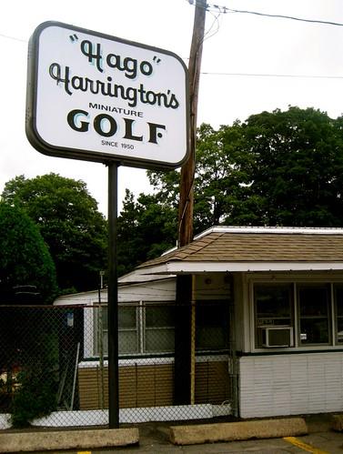 Hago Harrington's Mini Golf Sign
