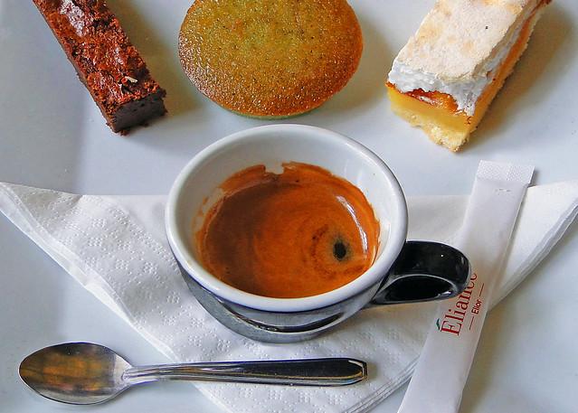 Coffee and dessert at Café des Hauteurs, Musée d'Orsay, Paris
