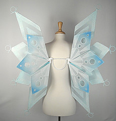 Snowflake fairy wings (On Gossamer Wings) Tags: snowflake wedding costume wings handmade unique recital fairy flowergirl custom gossamer faerie dragoncon on fairywings faeriewings photographyprop faerywings adultcostume ongossamerwings wingmaking adultfairywings
