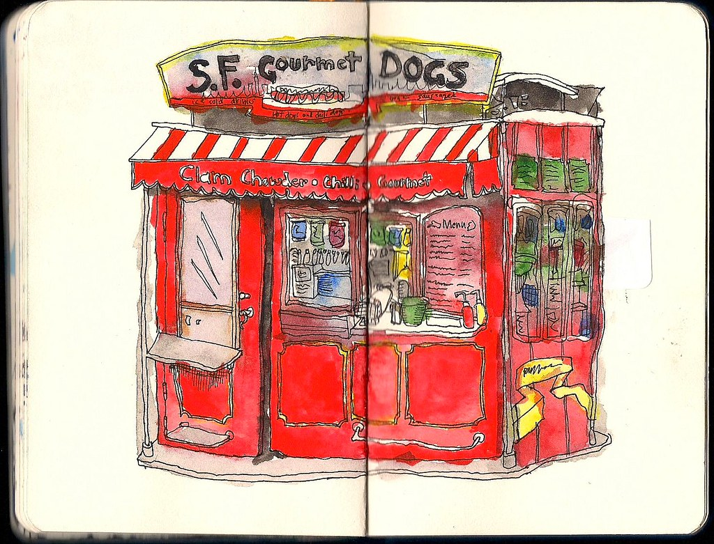 '' S.F. GOURMET DOGS '' by John Woolley / 10 years old
