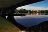 Reflected and refracted Ibai River (IMG0013) (Fadzly @ Shutterhack) Tags: leica film architecture analog landscape malaysia analogue terengganu kualaterengganu fujipro400h kualaibai my leicar6 fadzlymubin shutterhack summicronr3520 chenderingbridge