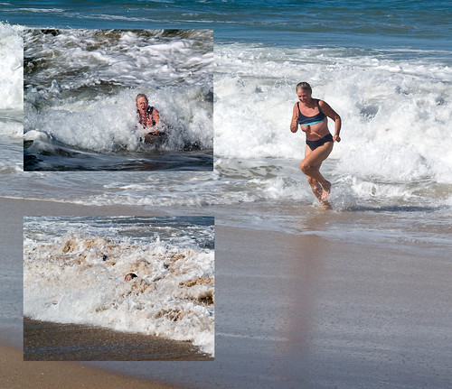 amateur public only nudity pics: waves,  ocean,  topless,  nudist, hurricane