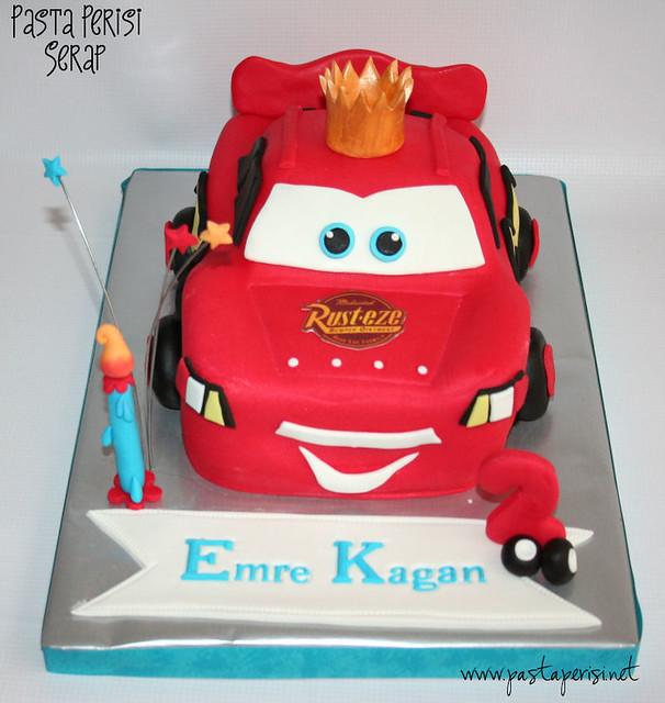 Şimşek mcqueen cake