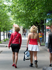on the street (long.fanger) Tags: fashion blondes latvia redshoes riga rga vecriga vecrga