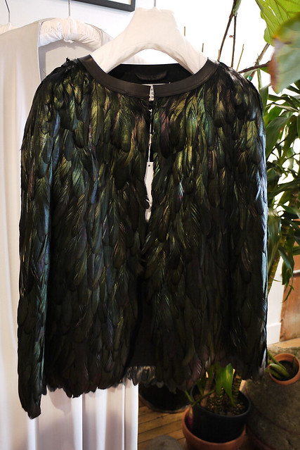 martin margiela feather cape