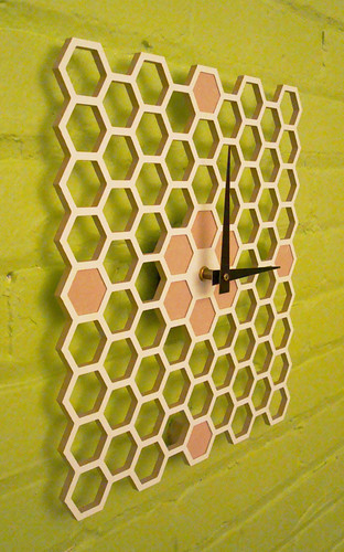 Honeycomb Wall Clock by Keith Moore