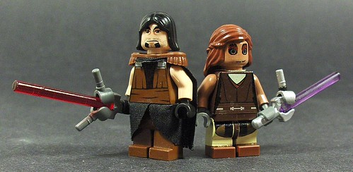 Khain and his Padawan custom minifigs