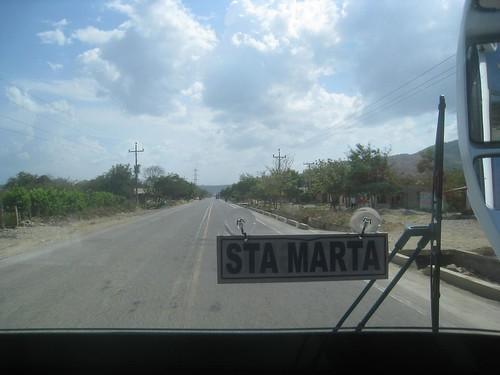 The bus to Cartagena