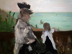 Morisot, In a Villa at the Seaside, detail figures close
