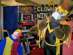 "The Masked Mustang finds a ""funny"" clown"