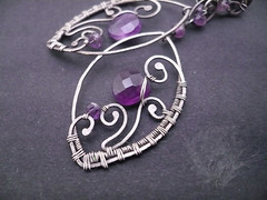 Viola (maqda07) Tags: jewelry earrings amethyst wirewrapping oxidizedsilver