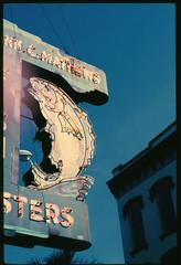 fish sign savanah (T. Scott Carlisle) Tags: fish sign neon pentax 1992 kodachrome savanah tsc tphotographic tphotographiccom tscarlisle tscottcarlisle