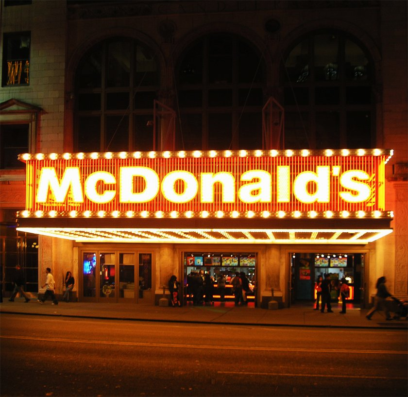 McDonald's at night in Manhattan