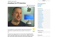 Jonathan Ive TV interview « 유타 시간_1236337688665
