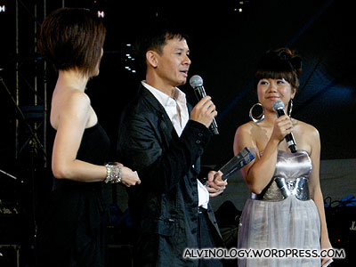 Singapore music great, Kheng Long, interviewed on stage