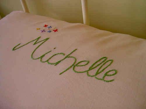 Stitched pillowcase