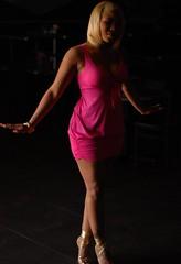 (Rock.Solid.One) Tags: pink shadow summer sunlight sexy tattoo club tampa 50mm nikon dress legs skirt heels fl nikkor fla 50mm18 d80