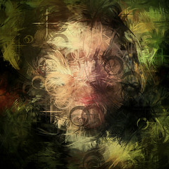 I am no Chuck Close (PatrickGunderson) Tags: desktop portrait selfportrait abstract green art geometric face lines yellow composition pencil square design artwork random circles events flash curves digitalart patrick digitalpainting adobe programming math generative looks exploration generated colorfield actionscript spirograph nonfigurative algorithmic periodic gunderson as3 anawesomeshot epicycles