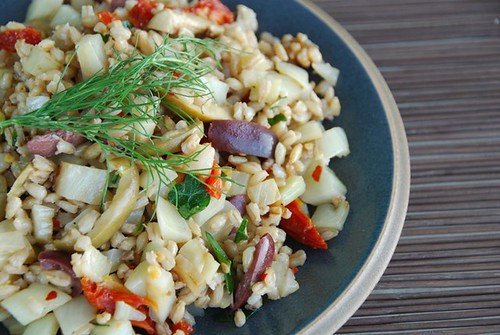 warm barley and fennel salad
