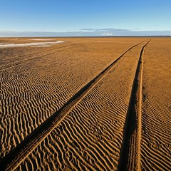 Making Tracks (RoystonVasey) Tags: uk sea england lake ice canon square eos sand track angle britain head ripple district united great wide sigma kingdom estuary explore cumbria gb jpg 1020mm tyre roan palabra duddon 400d