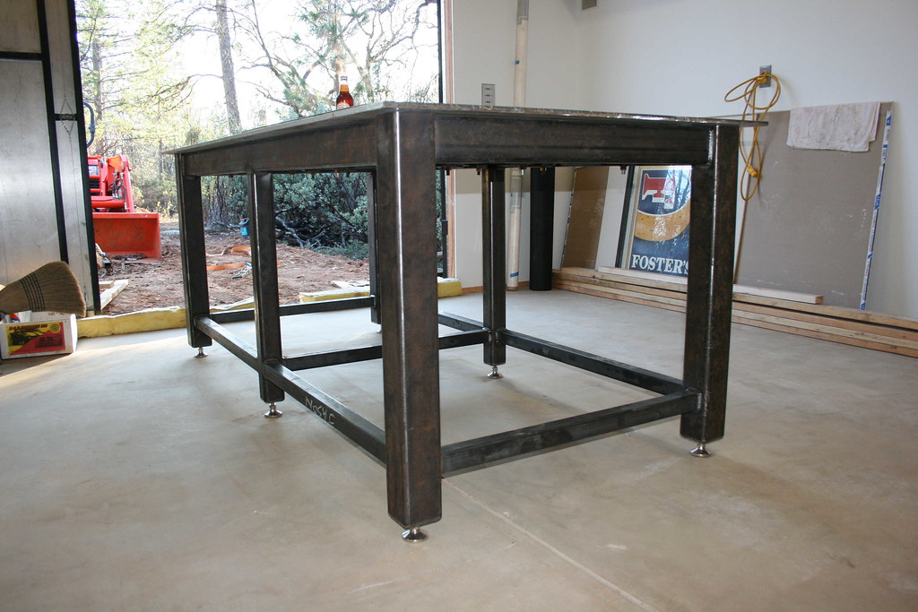 Homemade steel welding bench - Plan fabrication table ...