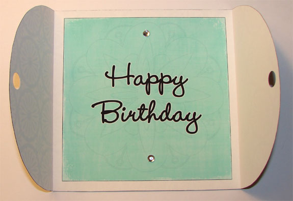 Black and White (with Blue) Birthday Card (Inside)