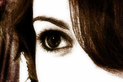 My Eye (Silent Orchestra) Tags: portrait brown selfportrait eye girl sepia hair person darkhair silentorchestra laughlovehope daryeyes