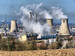 Smokescreen (Barrie Caveman) Tags: trees industry scotland industrial smoke scottish steam agriculture bp chemicals refinery chemical grangemouth employer centralscotland ineos