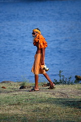 River Narmada at Tilwara Ghat in Jabalpur, India. (Chandravir Singh) Tags: people india water canon river eos holy hinduism narmada jabalpur 450d canonefs55250mmf456is aksveer